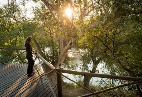 Viewing deck at Ezulwini River Lodge