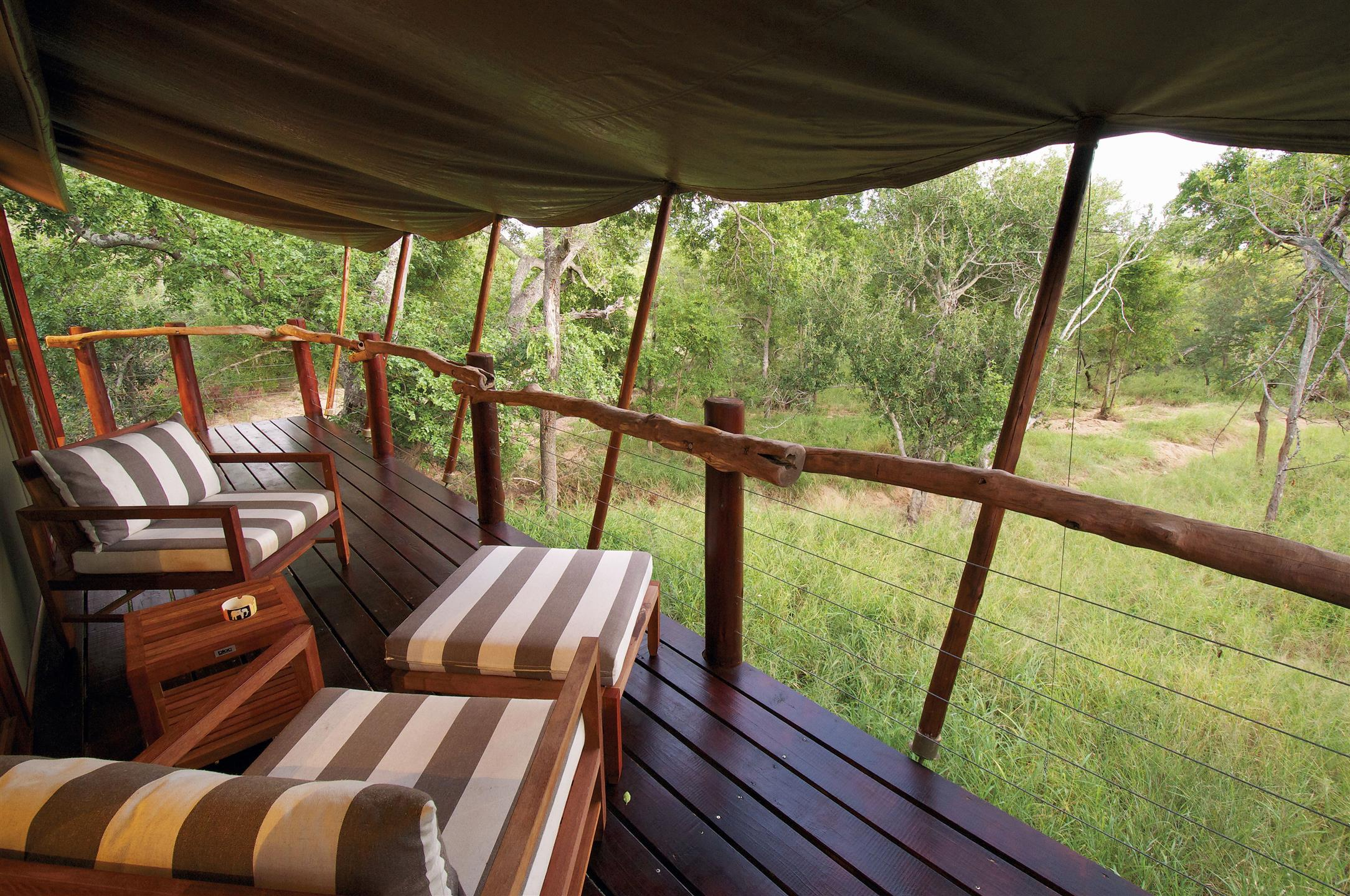 Verandah at Kapama Buffalo Camp
