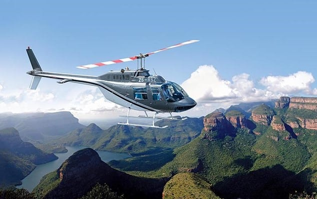 Mpumalanga Helicoper Co at Leopard Hills