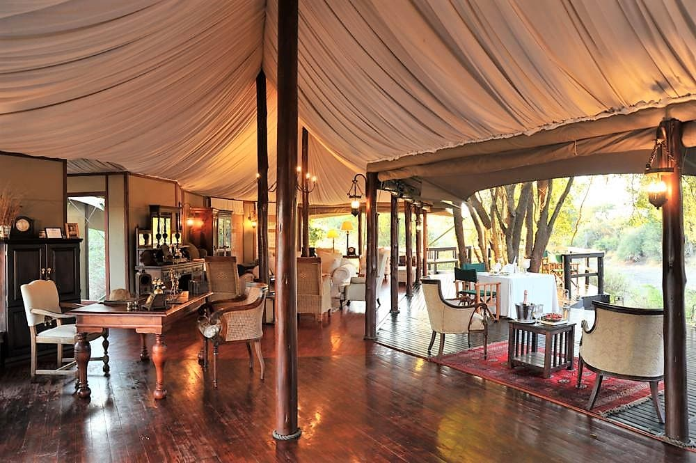 Hamiltons Tented Camp main area interior