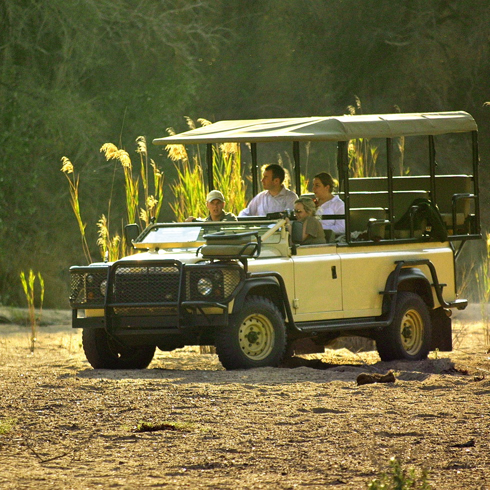 Riverbed drive at Hamiltons Tented Camp
