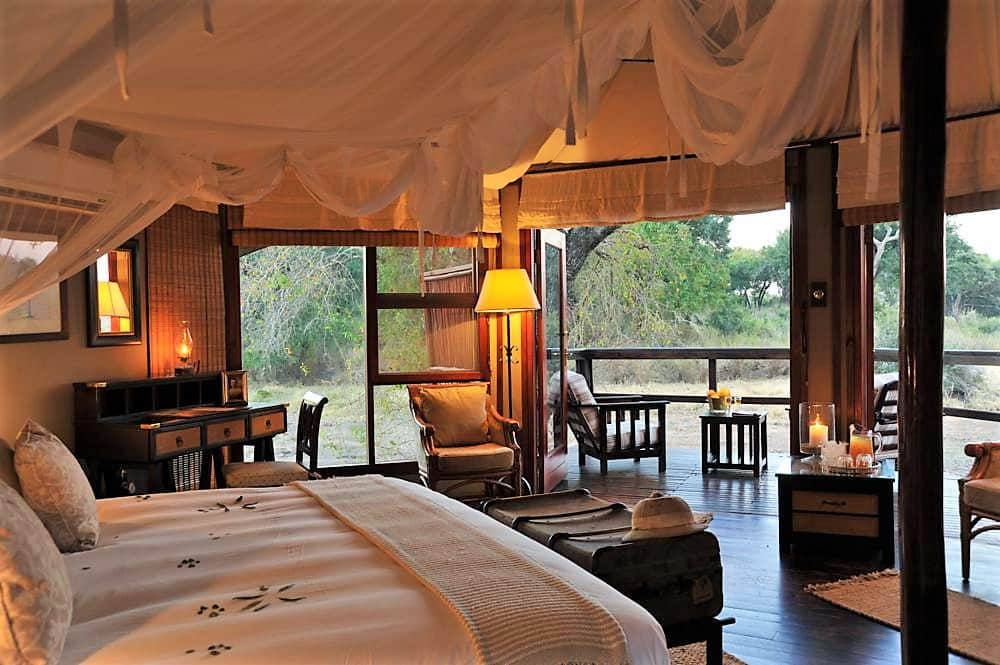 Suite interior at Hamiltons Tented Camp