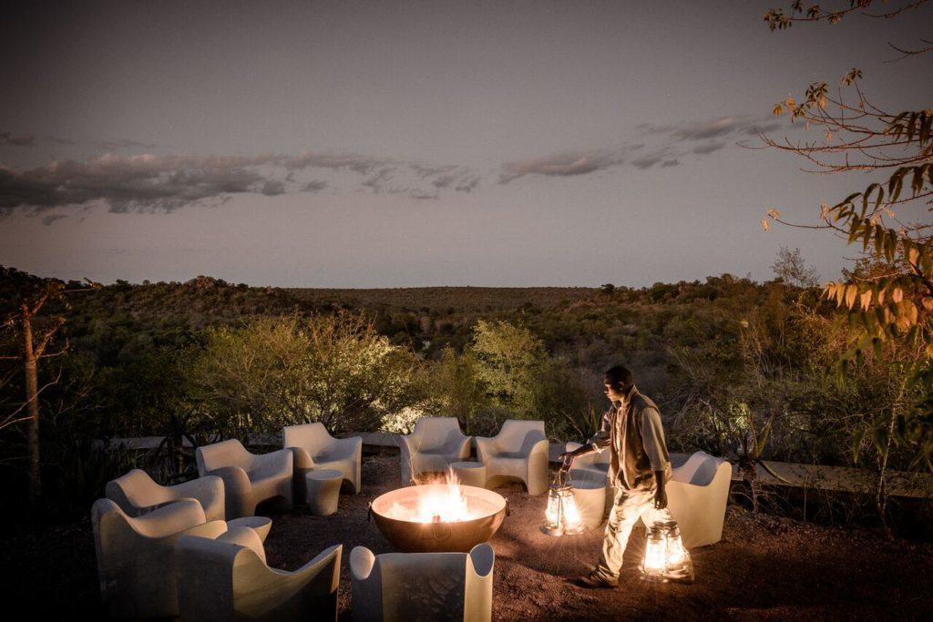 Singita Lebombo fire pit