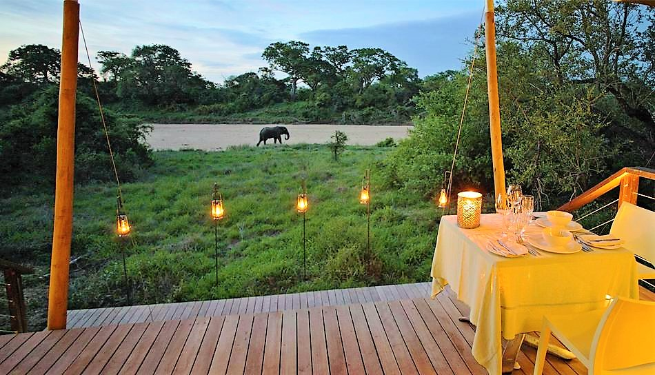 Ngala Tented Camp river view