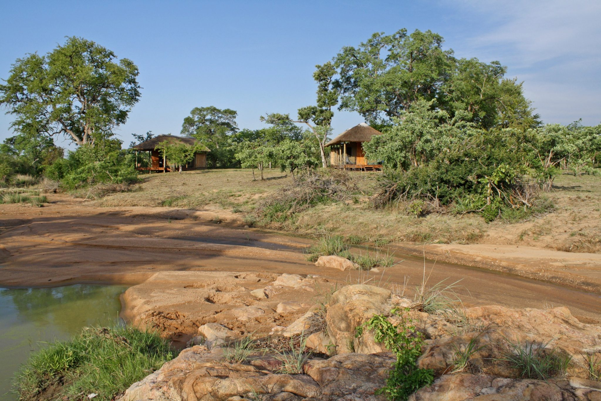 Shindzela Lodge from waterhole