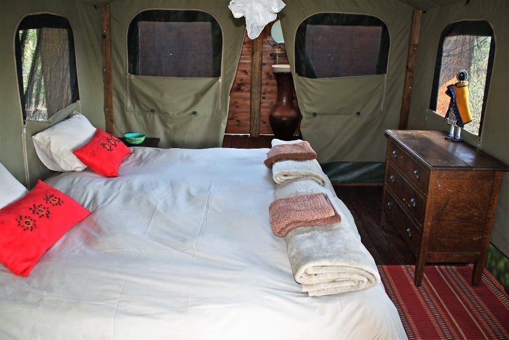 Shindzela tent interior