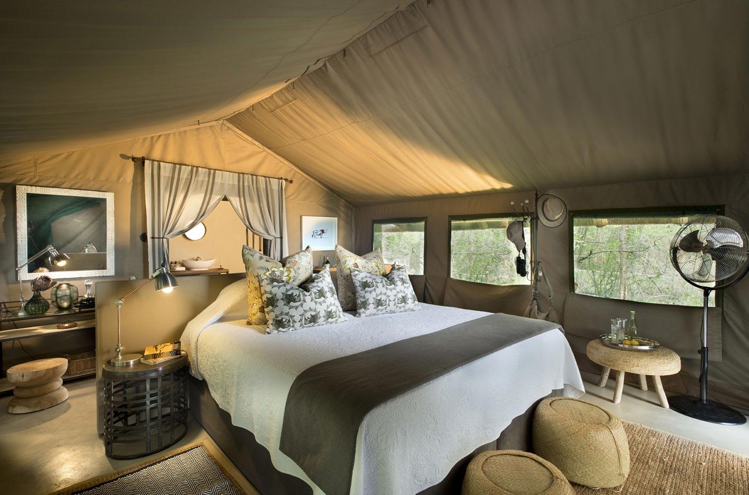 Luxury safari tent at Tanda Tula