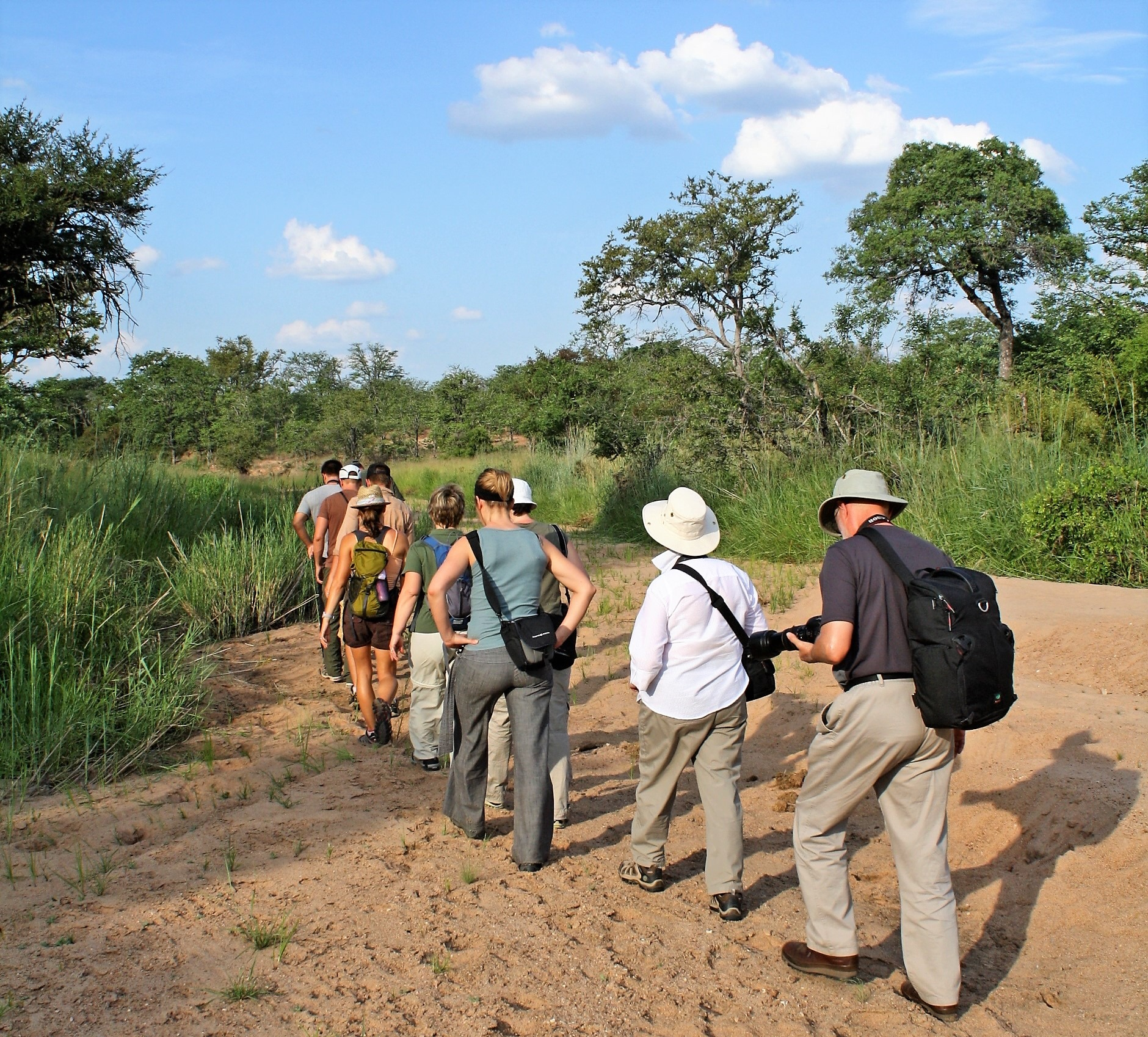 Walking the riverbed from Shindzela camp