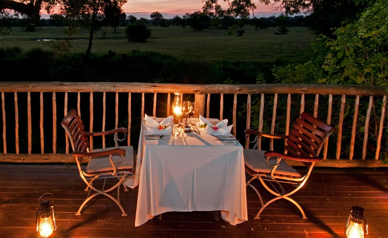 Private dinner at Sabi Sabi Selati