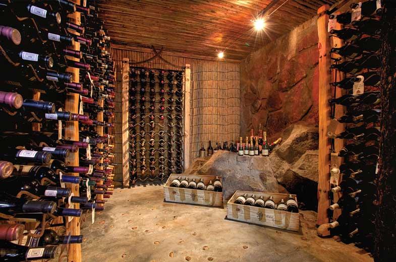 Leopard Hills wine cellar