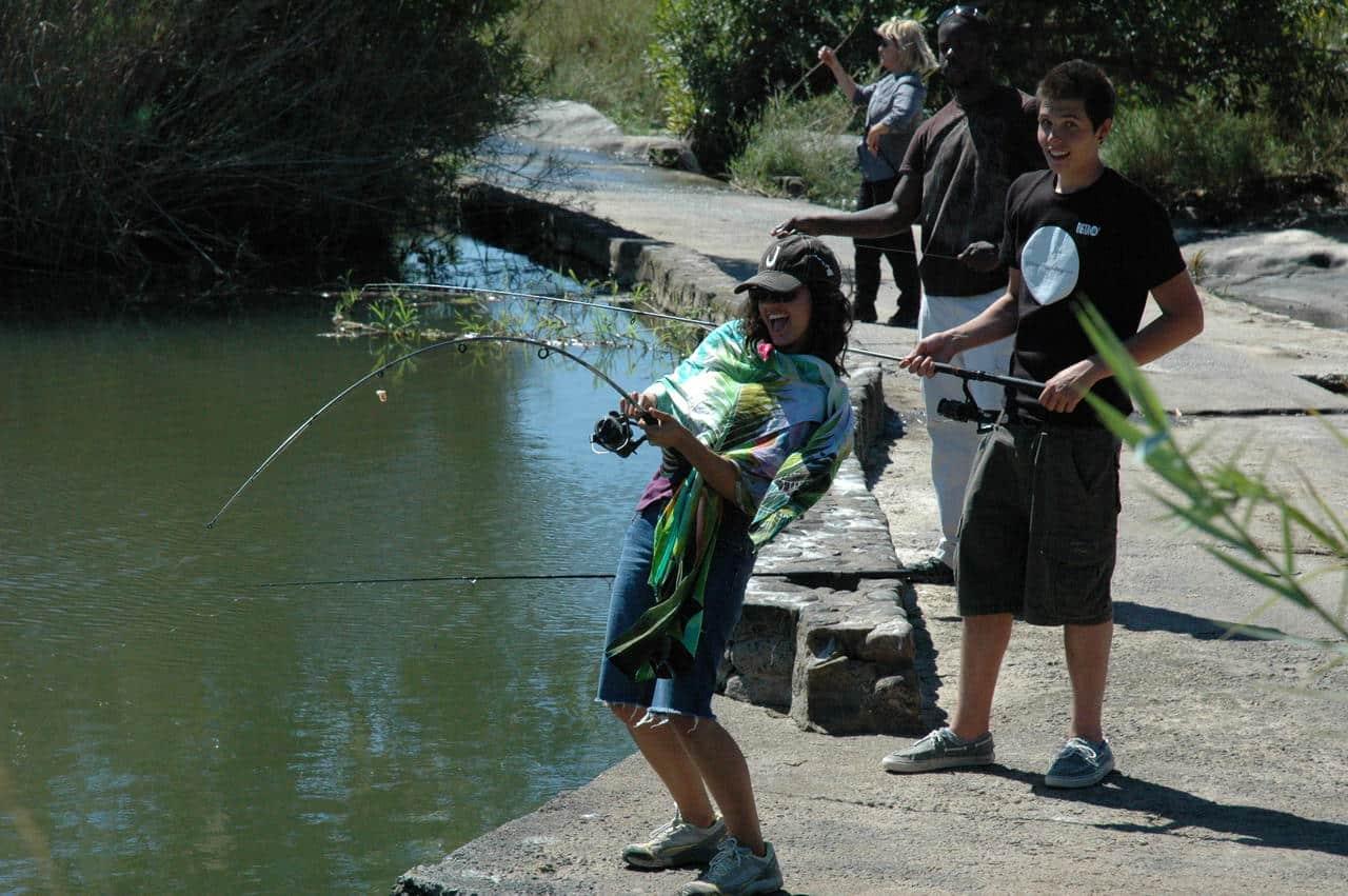 Fishing at Inyati
