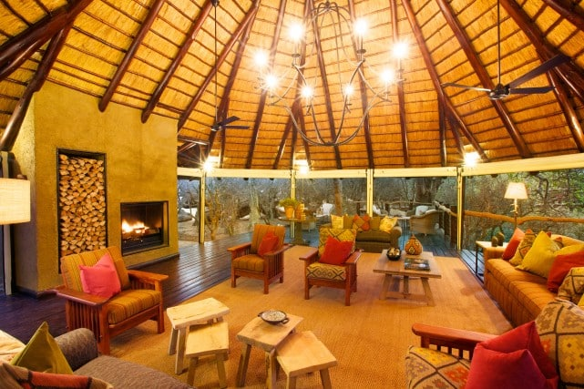 Kapama Buffalo Camp lounge