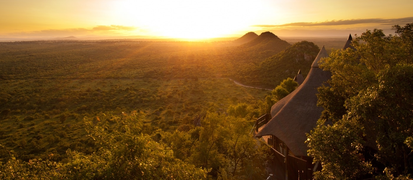 Ulusaba Rock Lodge panorama