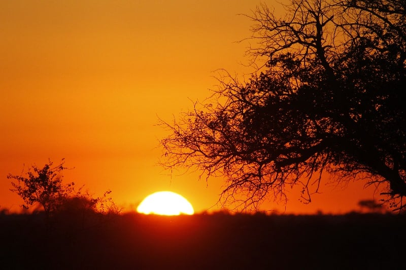 Sunset at Umlani