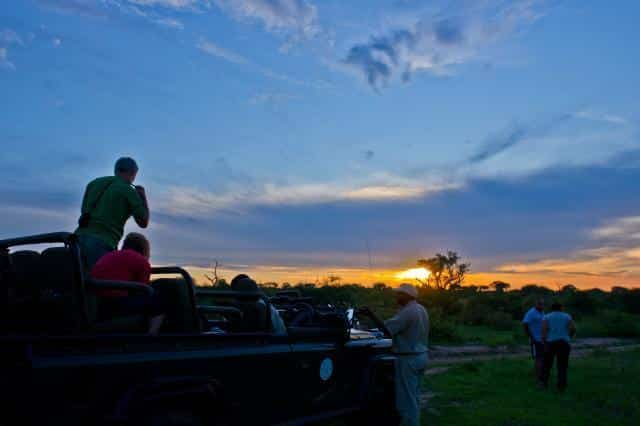 Sundowners on drive at Umlani