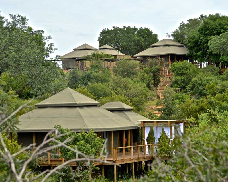 Simbavati Hilltop camp view