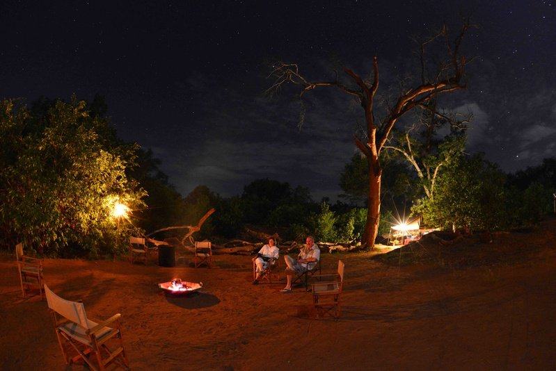 Pafuri Trail camp at night