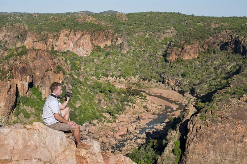 Surveying the Lanner Gorge on trail