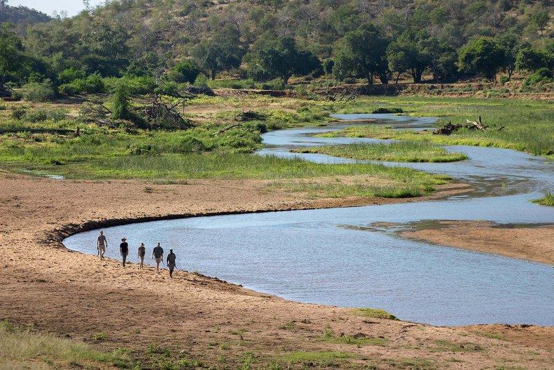 Walking the Luvuvhu river on the Pafuri Trail