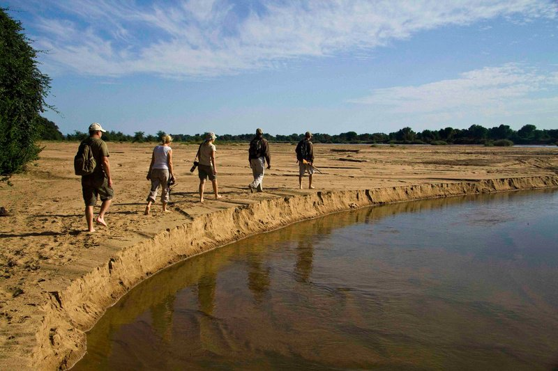 Walking the Limpopo riverbed on the Pafuri Trail
