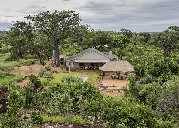 Baobab Hill House from overlooking ridge