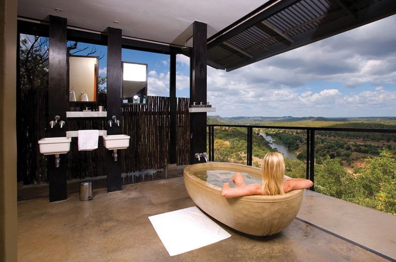 View from the bath at The Outpost