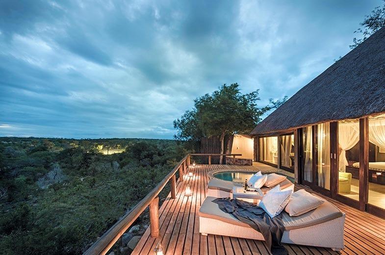 Raised deck suite at Leopard Hills