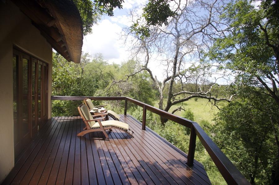 Luxury suite deck at Elephant Plains
