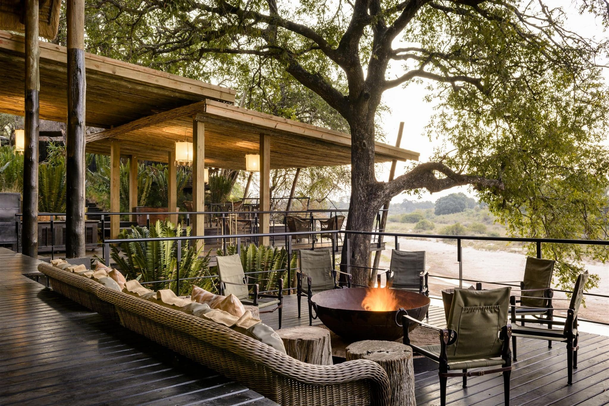 Singita Ebony Lodge river view