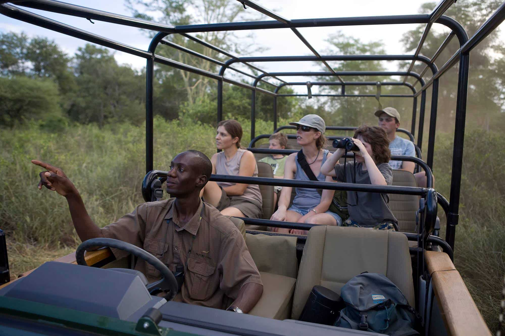 Game drive at Pafuri Camp