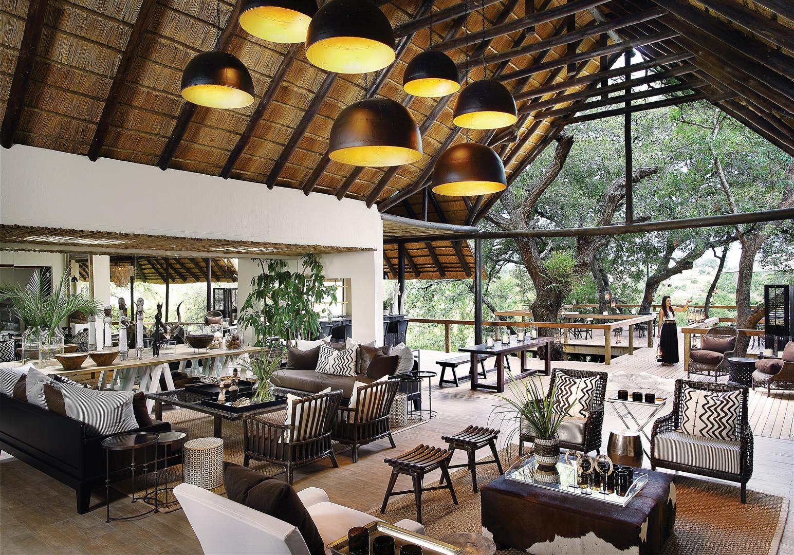 Londolozi Tree Camp main area