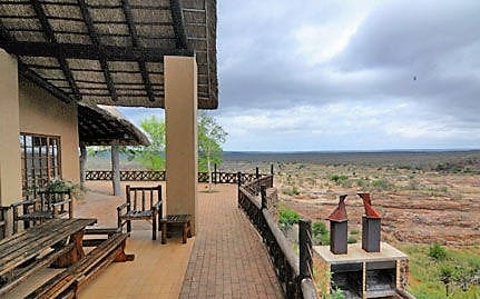 Guest house view at Olifants