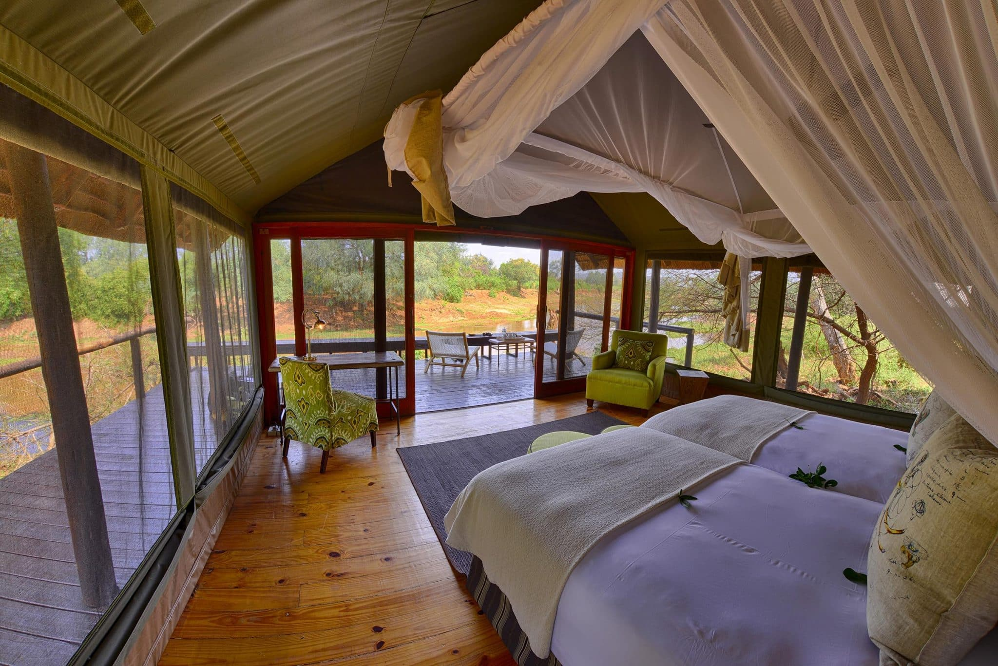 Pafuri tented camp interior