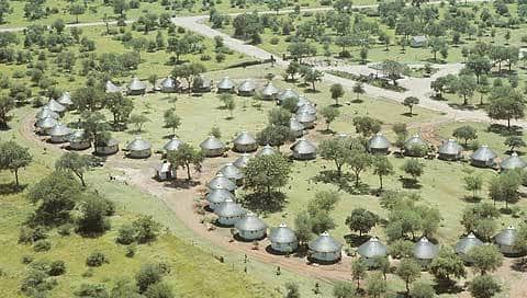Satara restcamp from the air