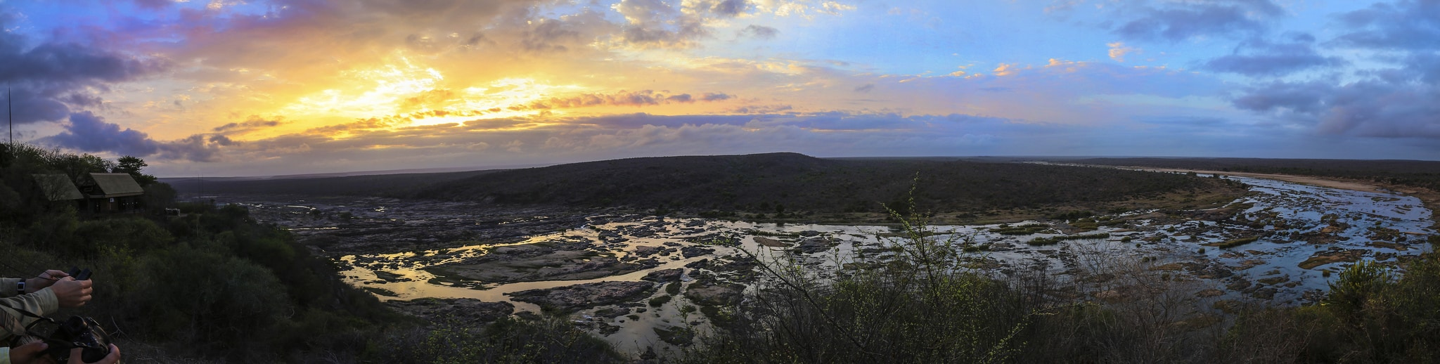 View from Olifants restcamp, sheldrickfalls
