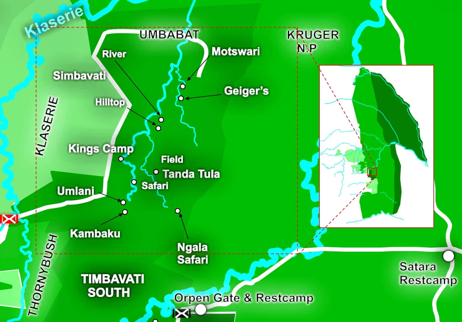 k2c Timbavati north map
