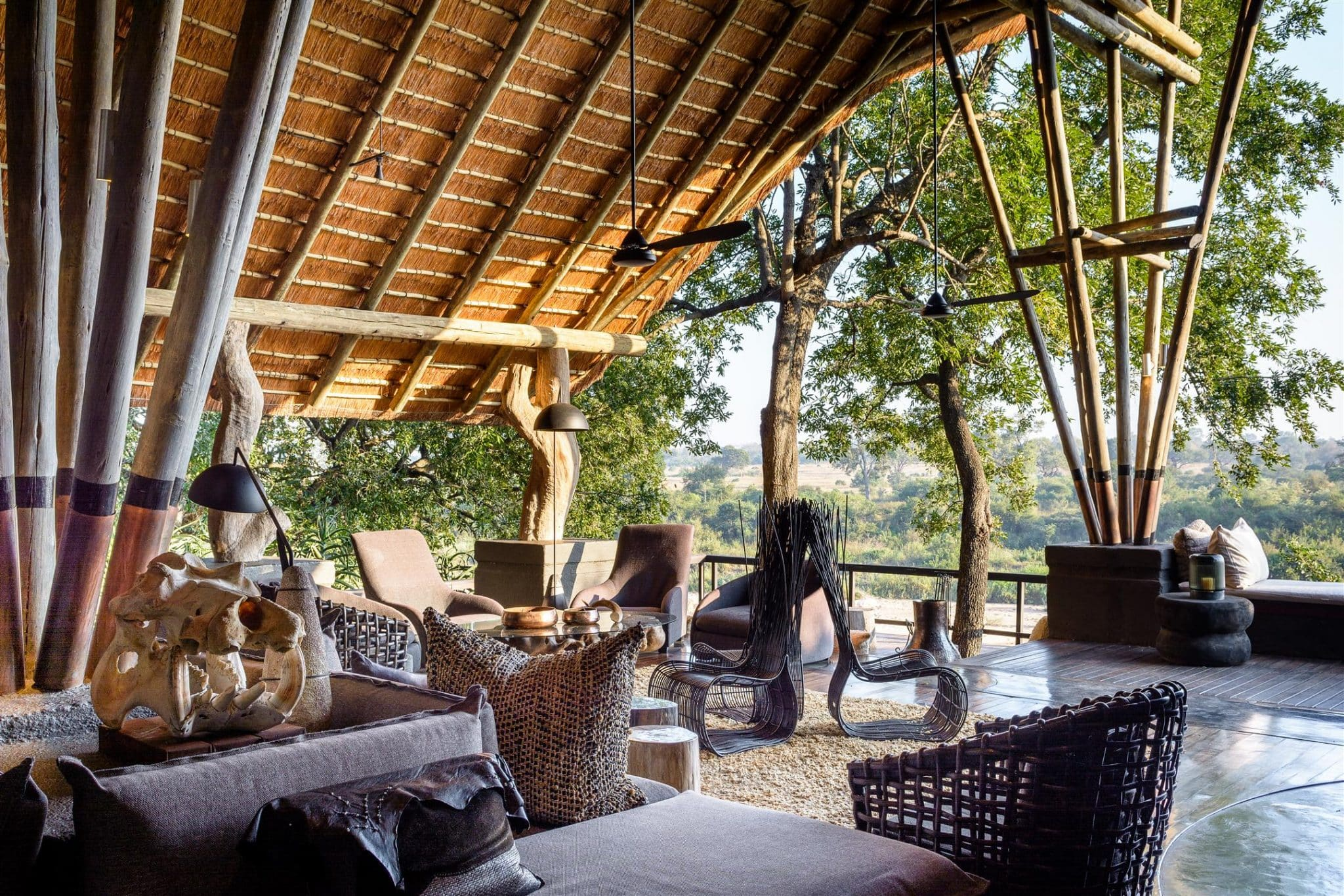 Singita Boulders lounge area