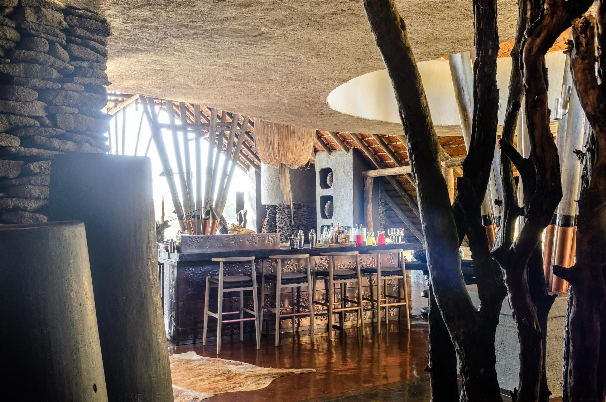 Copper bar at Singita Boulders