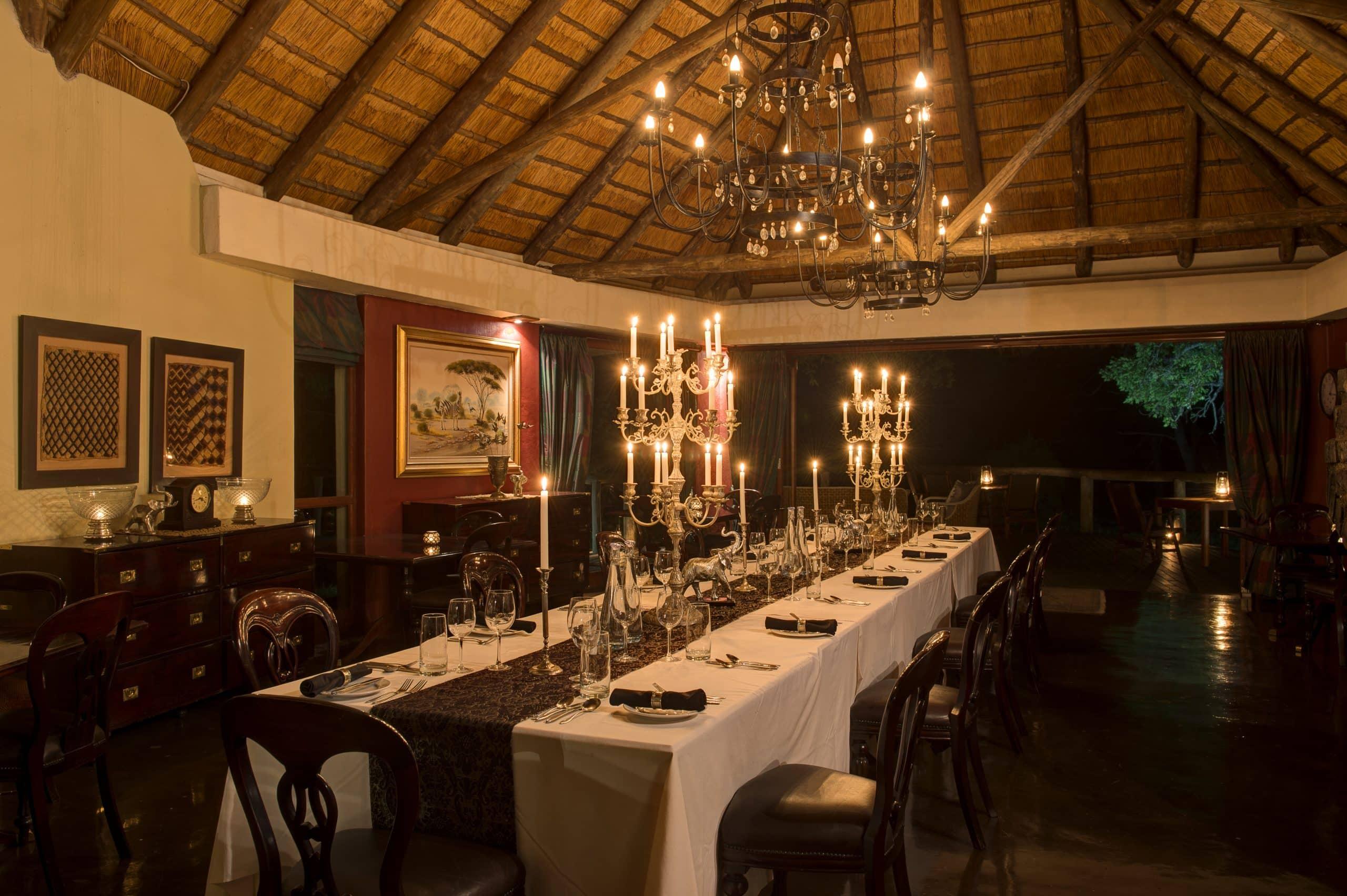 Dining at Tintswalo