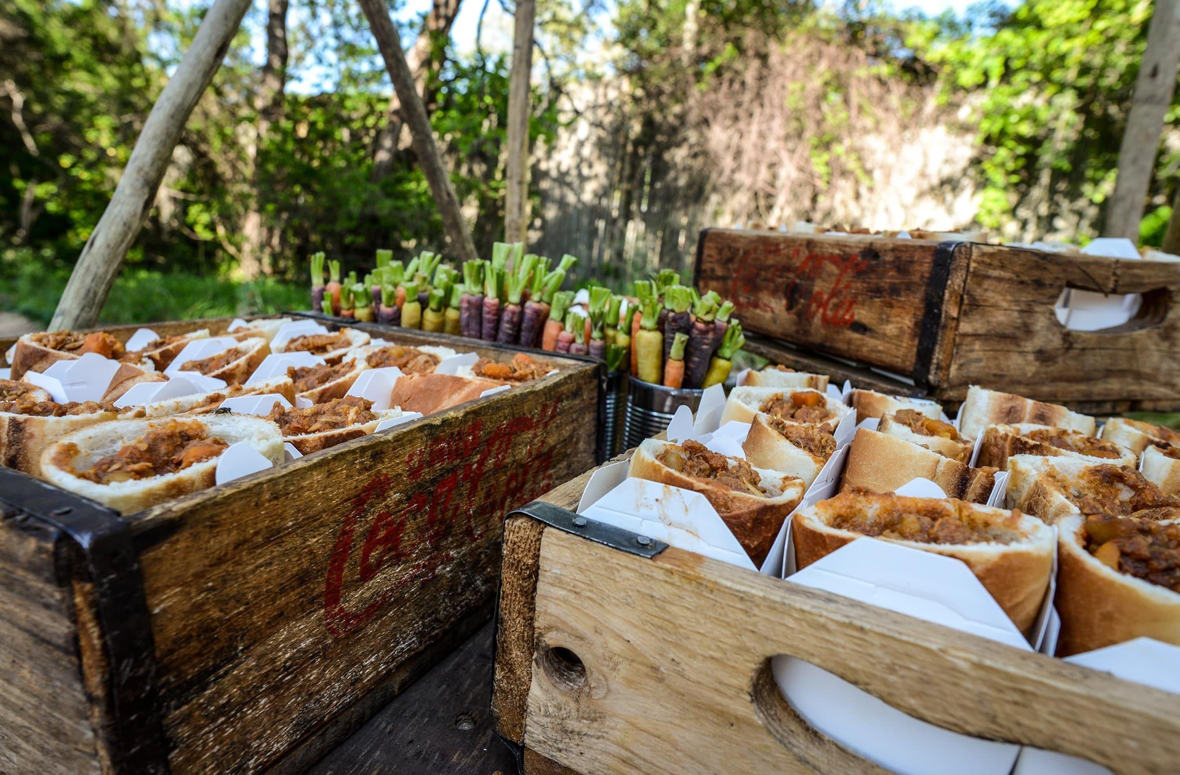Bunny chow at Londolozi