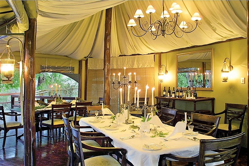 Hamiltons Tented Camp mess tent