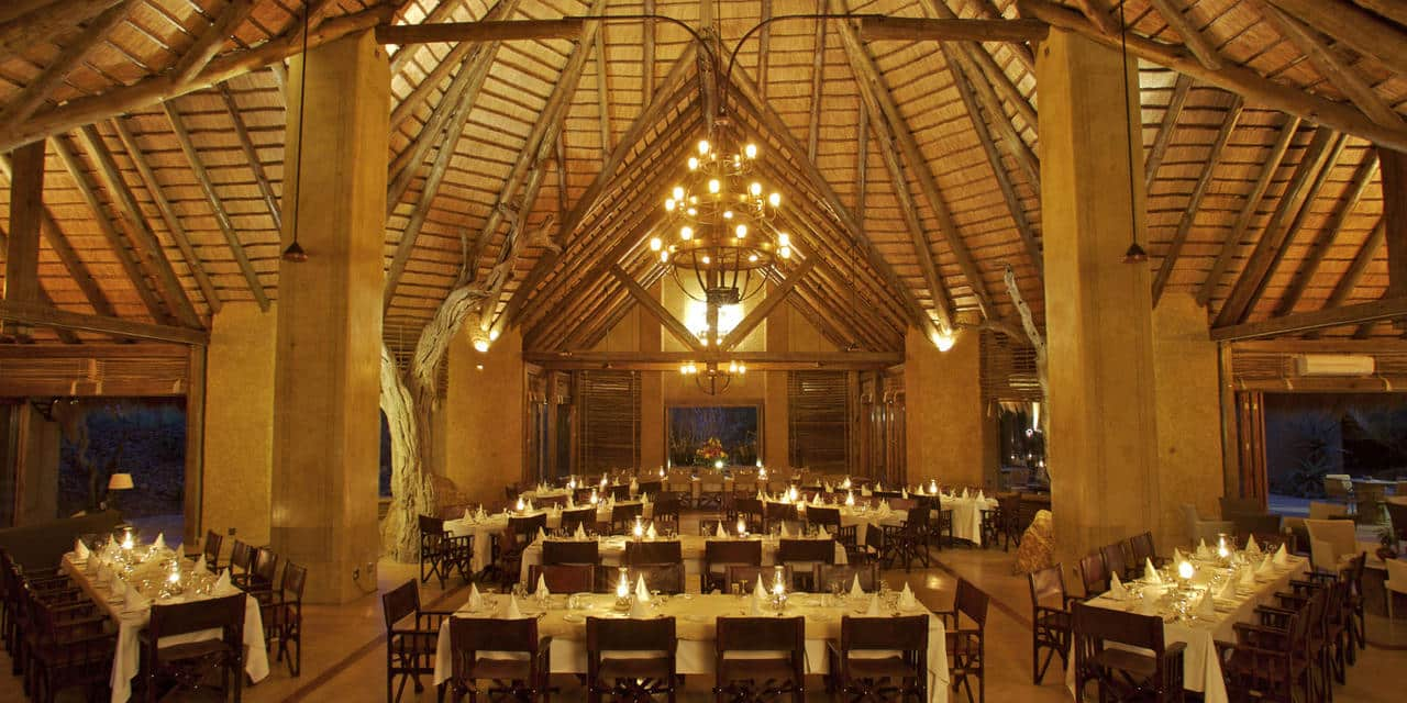 Siyadla dining lounge at Kapama River Lodge