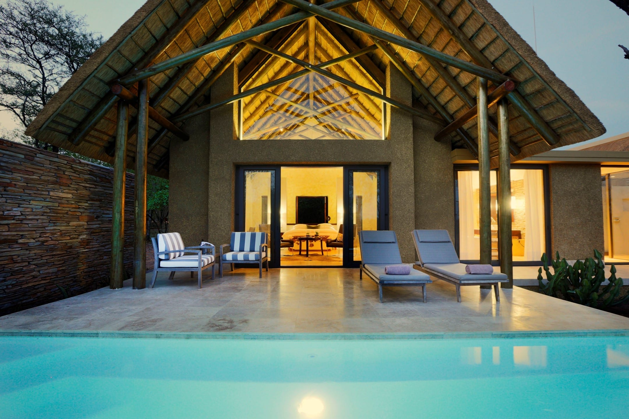Kapama Southern Camp luxury suite pool