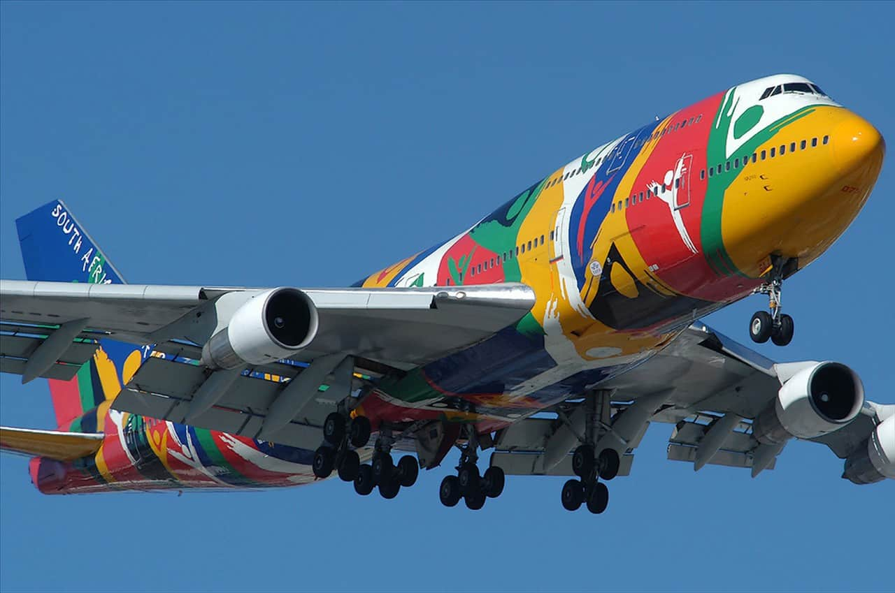 SAA 747-300 in Ndizani livery