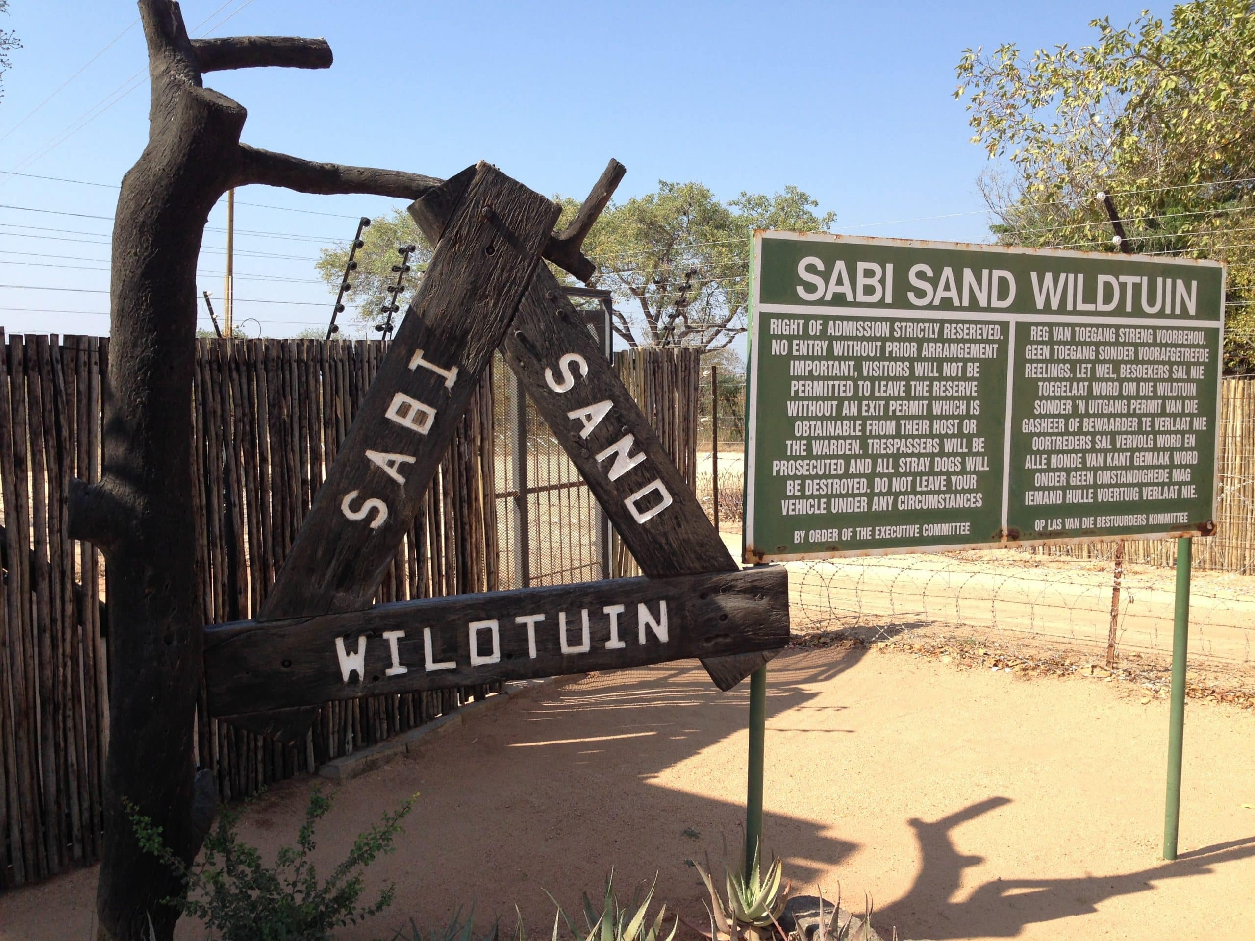 Shaws gate to Sabi Sand