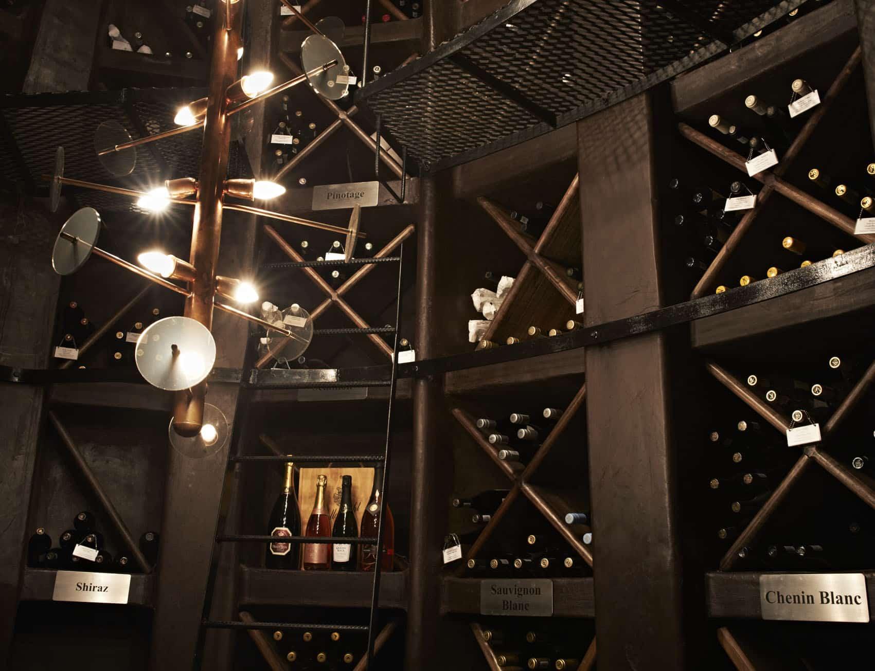 Singita Lebombo wine cellar