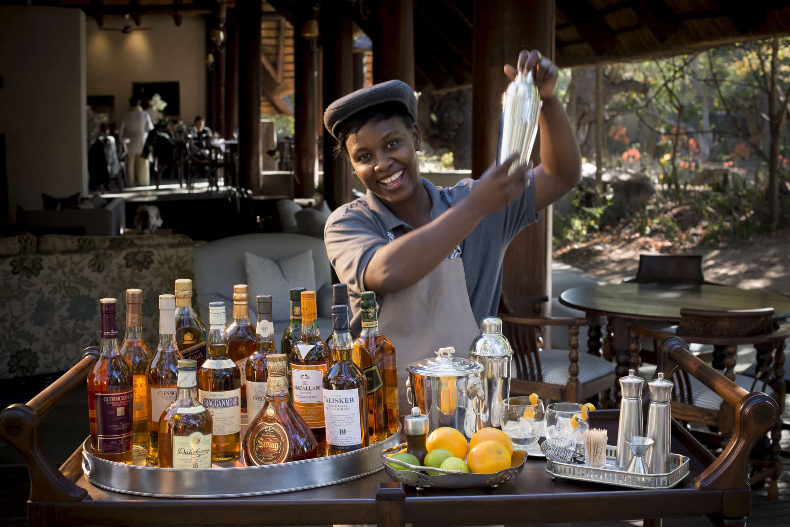 Whisky tasting at Ngala Safari Lodge