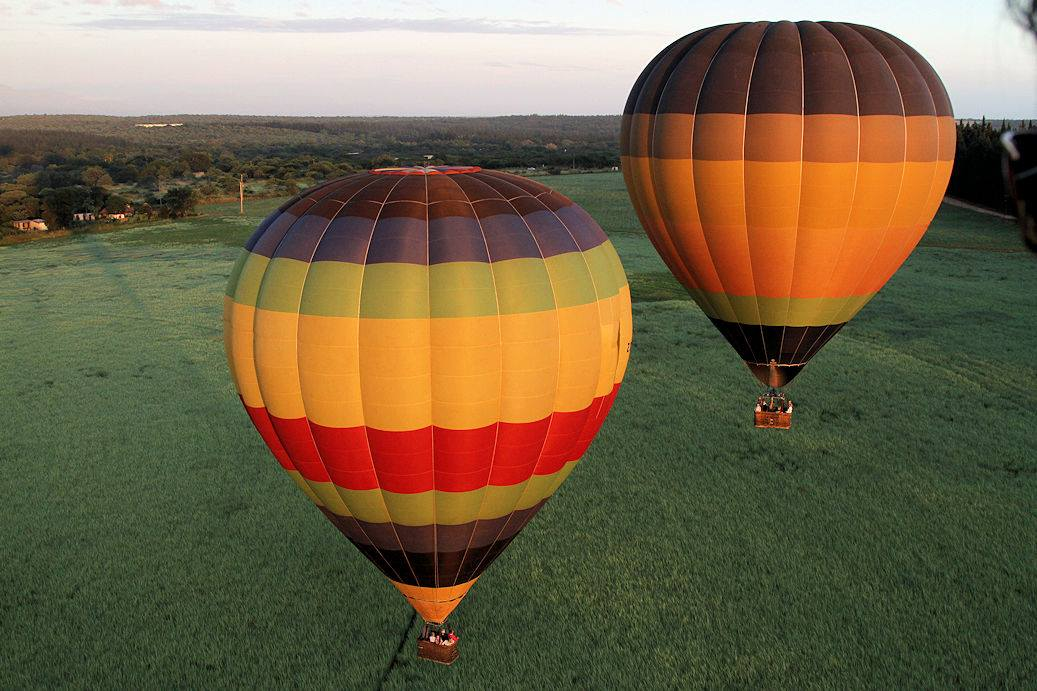 Hot air balloons en route to the Kruger