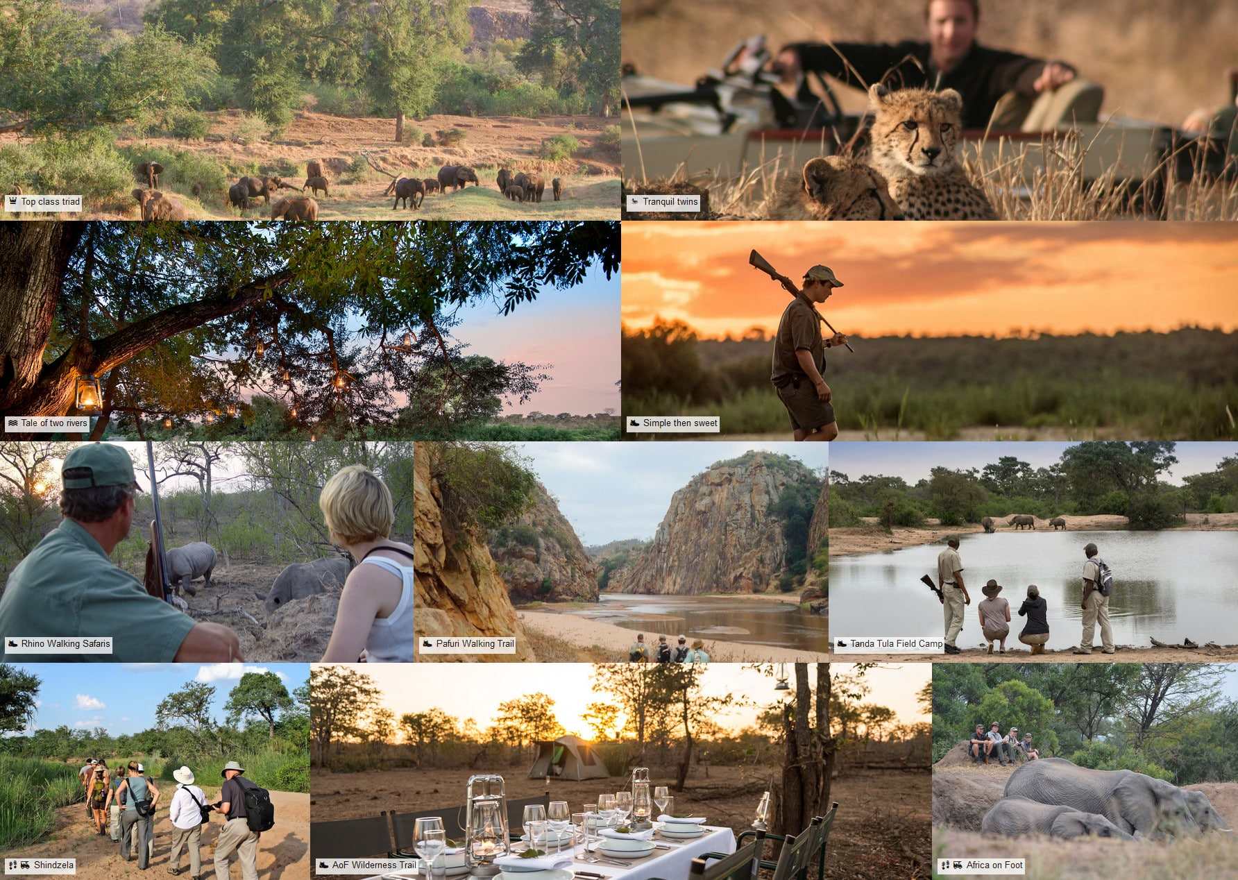 k2c kruger safari itineraries