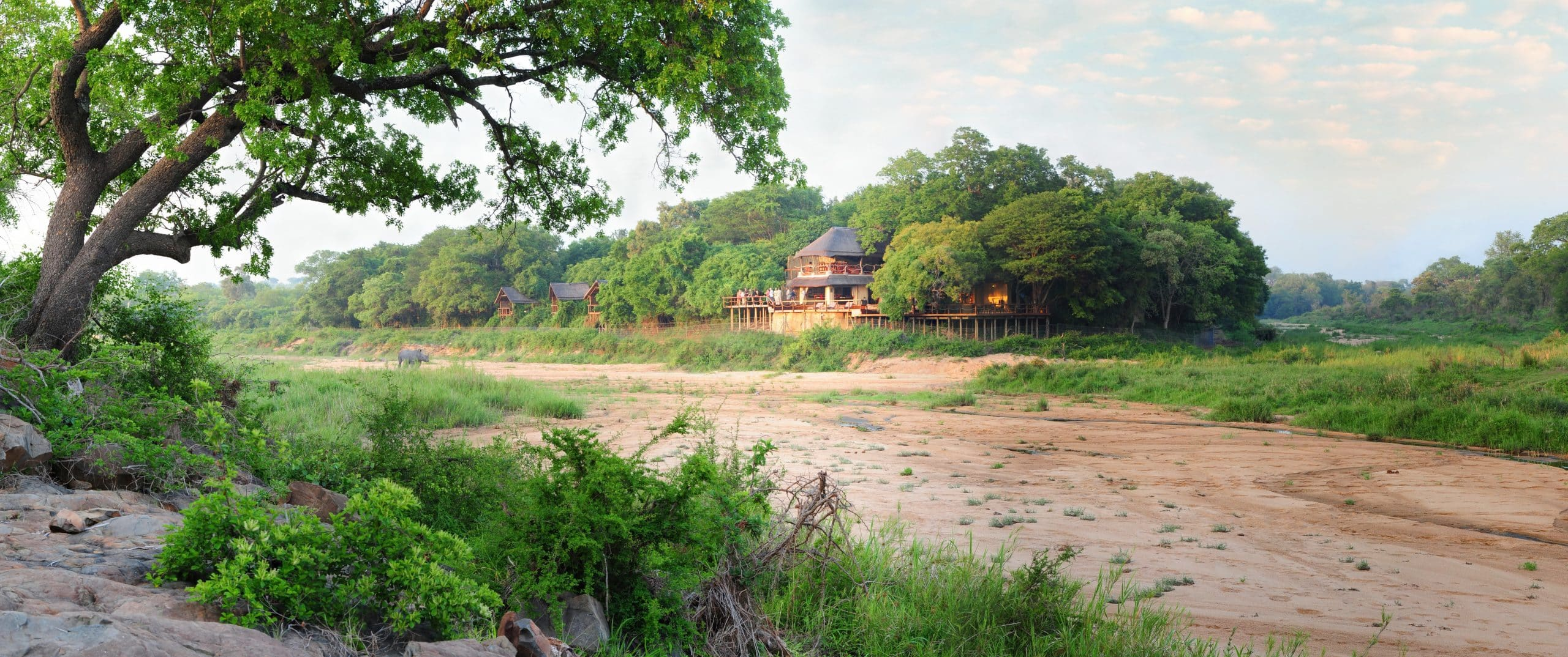 Jock Safari lodge from the river